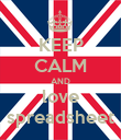 KEEP CALM AND love spreadsheet - Personalised Poster large