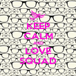 KEEP CALM AND LOVE SQUAD - Personalised Poster large