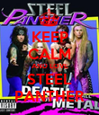 KEEP CALM AND LOVE STEEL PANTHER - Personalised Poster large