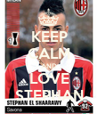 KEEP CALM AND LOVE STEPHAN - Personalised Poster large