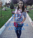 KEEP CALM AND LOVE STOICA ANTONIA - Personalised Poster large