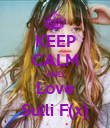 KEEP CALM AND Love Sulli F(x) - Personalised Poster large