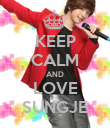 KEEP CALM AND LOVE SUNGJE - Personalised Poster large