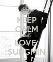 KEEP CALM AND LOVE  SUNGMIN - Personalised Poster large