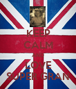 KEEP CALM AND LOVE SUPER GRAN - Personalised Poster large