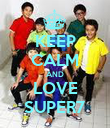 KEEP CALM AND LOVE SUPER7 - Personalised Poster large