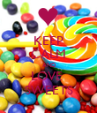 KEEP CALM AND LOVE  SWEETS - Personalised Poster large
