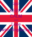 KEEP  CALM AND Love Swimmingbecky!!! - Personalised Poster large