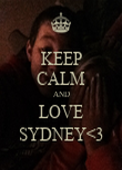 KEEP CALM AND LOVE SYDNEY<3 - Personalised Poster large