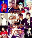 KEEP CALM AND LOVE T.O.P - Personalised Poster large