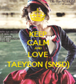 KEEP CALM AND LOVE TAEYEON (SNSD) - Personalised Poster large