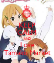 KEEP CALM AND Love Tamako Market - Personalised Poster small