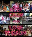 KEEP CALM AND LOVE TE DEUM  - Personalised Poster large