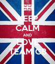 KEEP CALM AND LOVE TEAM GB - Personalised Poster large
