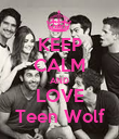 KEEP CALM AND LOVE Teen Wolf - Personalised Poster large