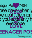 KEEP CALM AND LOVE TEENAGER POST - Personalised Poster large