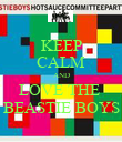 KEEP CALM AND LOVE THE  BEASTIE BOYS - Personalised Poster large