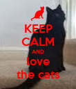 KEEP CALM AND love the cats - Personalised Poster large