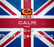 KEEP CALM AND Love The Hunger Games. - Personalised Poster large