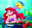 KEEP CALM AND LOVE THE LITTLE MERMAID - Personalised Poster large