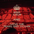 KEEP CALM AND  LOVE THE PEARL RED OCEAN - Personalised Poster large