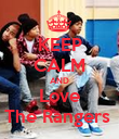 KEEP CALM AND Love The Rangers  - Personalised Poster large