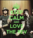 KEEP CALM AND LOVE THE REV - Personalised Poster small