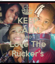 KEEP CALM AND Love The Rucker's - Personalised Poster large
