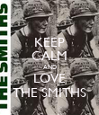 KEEP CALM AND LOVE THE SMITHS - Personalised Poster large