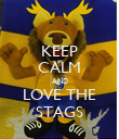 KEEP CALM AND LOVE THE STAGS - Personalised Poster large