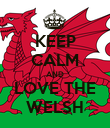 KEEP CALM AND LOVE THE WELSH - Personalised Poster large