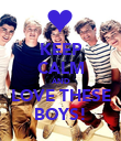 KEEP CALM AND LOVE THESE BOYS! - Personalised Poster large