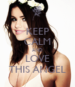 KEEP CALM AND  LOVE THIS ANGEL - Personalised Poster large