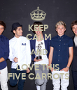 KEEP CALM AND LOVE THIS  FIVE CARROTS - Personalised Poster large