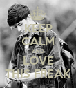 KEEP CALM AND LOVE THIS FREAK - Personalised Poster large