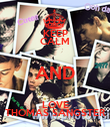 KEEP CALM AND LOVE THOMAS SANGSTER - Personalised Poster small