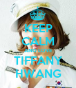 KEEP CALM AND LOVE TIFFANY HWANG - Personalised Poster large