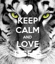 KEEP CALM AND LOVE TIGERS - Personalised Poster large