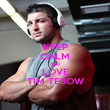 KEEP CALM AND LOVE TIM TEBOW - Personalised Poster large