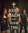 KEEP CALM AND love TMI - Personalised Poster large