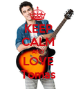 KEEP CALM AND LOVE Tomas - Personalised Poster large