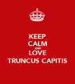 KEEP CALM AND LOVE TRUNCUS CAPITIS - Personalised Poster large