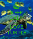 KEEP CALM AND LOVE TURTLE - Personalised Poster large