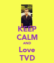 KEEP CALM AND Love TVD - Personalised Poster large