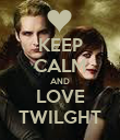 KEEP CALM AND LOVE TWILGHT - Personalised Poster large