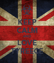 KEEP CALM AND LOVE TYREECE - Personalised Poster large