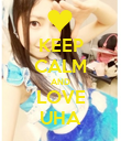 KEEP CALM AND LOVE UHA - Personalised Poster large