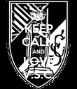 KEEP CALM AND LOVE V.S.C. - Personalised Poster small