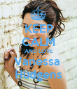 KEEP CALM AND LOVE Vanessa  Hudgens - Personalised Poster large
