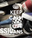KEEP CALM AND LOVE VANS - Personalised Poster large